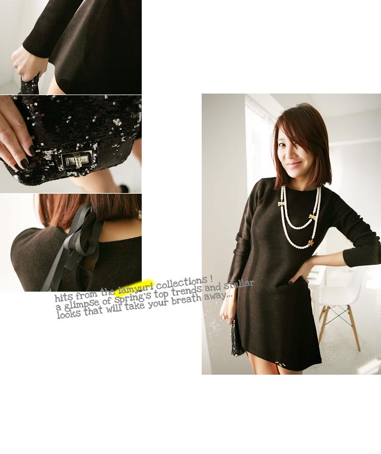 配黑裙子的项链,韩国饰品