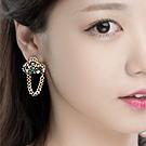 韩国Luxcoco饰品39142耳钉式, 平面/立体几何图形精品 链子 长方形 圆形