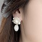 水晶饰品耳饰耳钉39143耳钉式, 植物, 平面/立体几何图形精品 花 椭圆形