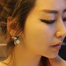 韩国进口耳饰水晶饰品39186耳钉式, 植物, 平面/立体几何图形精品 花 叶子 圆形