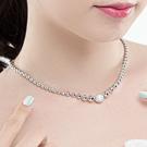 Luxcoco锁骨链39035穿珠链, 单层链, 平面/立体几何图形精品 珠子 圆形