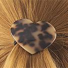 38291发圈发绳, 心形, 其他形状心形 豹纹