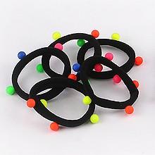 韩版橡皮筋发绳43302发圈发绳, 平面/立体几何图形珠子 圆形
