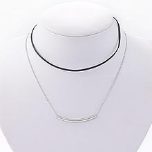 韩国直购双层项链41819锁链形, 绳子形, 多层链, 平面/立体几何图形弧形