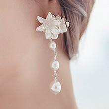 45043耳夹, 植物花 珠子 圆形