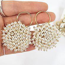 48368耳钉式圆环 珠子