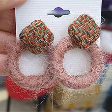48370耳钉式编织 菱形 圆环