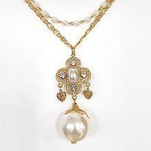 48372锁链形, 单层链, 心形心形 椭圆形 珠子