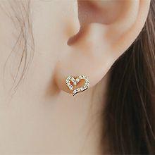 48428耳钉式, 心形心形 耳骨耳钉