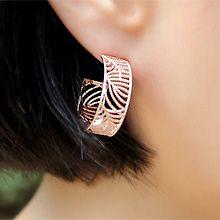 48515耳钉式C形 花纹