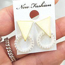48524耳钉式三角形 珠子