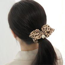 48475发圈发绳, 蝴蝶结, 平面/立体几何图形豹纹 珠子 圆形 蝴蝶结