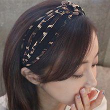 48491发箍发带发箍 木头 豹纹 长方形