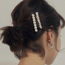 48516边夹顶夹珠子 扭曲 螺旋 两件套