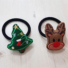 48519发圈发绳, 植物, 人物人体, 平面/立体几何图形圣诞 麋鹿 雪人 小孩 松树 星星 鞋子