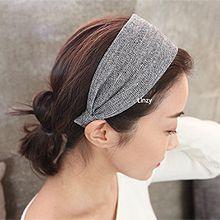 48581边夹顶夹, 发箍发带, 平面/立体几何图形纯色 宽发箍