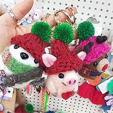 48542动物雪人 麋鹿 圣诞 猪