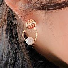 48655耳钉式圆环 圆形 珠子