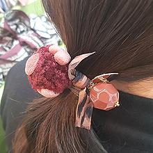 48851发圈发绳, 蝴蝶结, 心形蝴蝶结 心形 豹纹 圆形 毛球