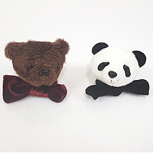 48868发圈发绳, 蝴蝶结熊 熊猫 蝴蝶结