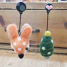48961耳钉式, 植物, 动物, 平面/立体几何图形小鹿 松树 不对称 圣诞