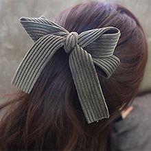 48812边夹顶夹, 蝴蝶结蝴蝶结 弹簧夹 纯色 条纹