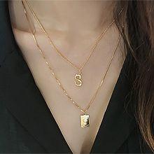 48824锁链形, 单层链, 字母数字/符号, 人物人体人 字母 长方形