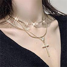 48901锁链形, 多层链, 十字架十字架 椭圆形 蛇链