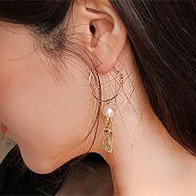48984耳圈耳扣凹凸不平珠子 长方形 不对称