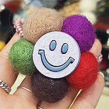 49057发圈发绳毛球 笑脸 圆形