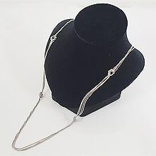 49115锁链形, 多层链, 平面/立体几何图形长款 毛衣链 打结