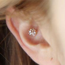 49223耳钉式圆形 耳骨耳钉