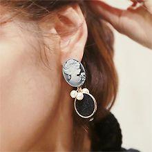 49252耳钉式椭圆形 圆形 人 珠子