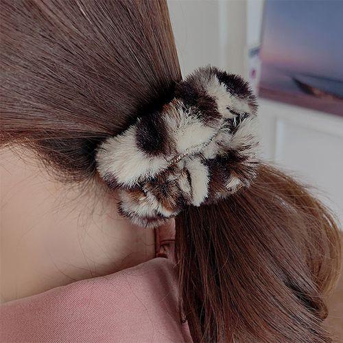 49040发圈发绳豹纹 毛毛