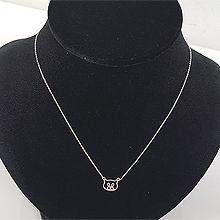48974锁链形, 单层链, 动物小猪 整件925银