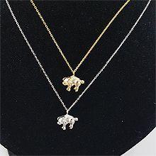 48978锁链形, 单层链, 植物, 平面/立体几何图形小猪 整件925银
