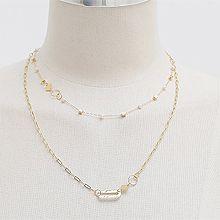 49152锁链形, 多层链, 平面/立体几何图形双层 珠子 椭圆形 正方形 圆形