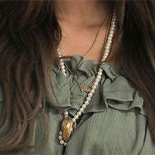 49266穿珠链, 单层链珠子 圆形 长款