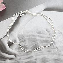 47047多层链, 其他分类特征整件925银 蛇链 双层