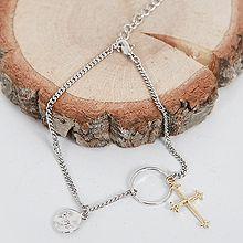 47275锁链形, 单层链, 十字架, 平面/立体几何图形十字架 圆环 人