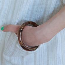 47077手镯形, 单层链圆环 豹纹 手镯