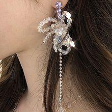 47548耳钉式, 蝴蝶结, 平面/立体几何图形珠子 蝴蝶结 圆形