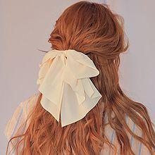 47511边夹顶夹, 蝴蝶结, 平面/立体几何图形纯色 蝴蝶结 弹簧夹
