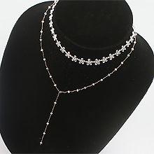 47422锁链形, 绳子形, 多层链, 植物花 珠子 两层