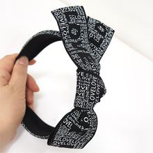 47574发箍发带, 蝴蝶结, 字母数字/符号蝴蝶结 字母 发箍
