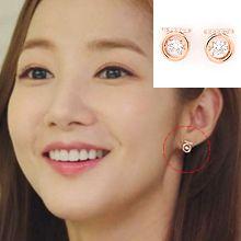 金秘书为什么那样同款耳环47609耳钉式会动 圆形 明星款 朴敏英 韩剧《金秘书为什么那样》一字