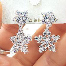 47612耳钉式, 心形, 天体自然现象心形 星星 后挂式