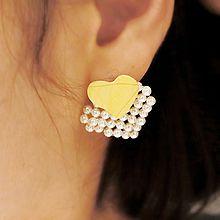 47775耳钉式, 心形心形 珠子