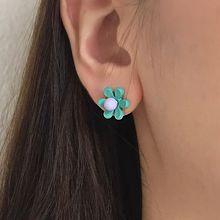 47842耳钉式, 植物花 圆形