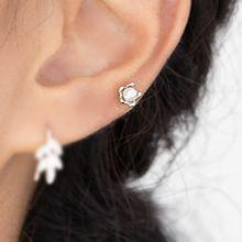 47884耳钉式, 植物花 珠子 耳骨耳钉